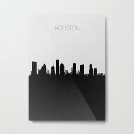 City Skylines: Houston Metal Print