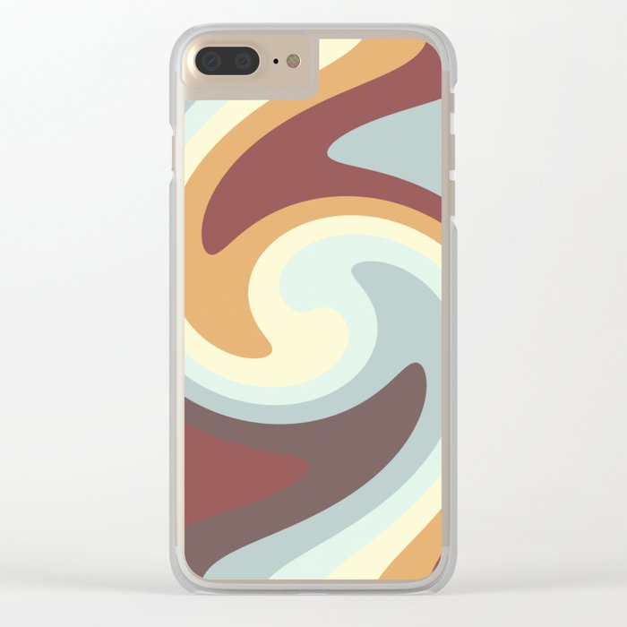 Abstract 377 Clear iPhone Case