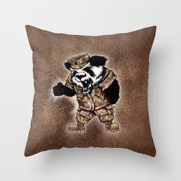 KNIFE-HAND PANDA Throw Pillow