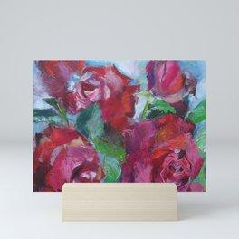 Art Nouveau red roses Mini Art Print