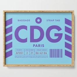 Baggage Tag D - CDG Paris Charles De Gaulle France Serving Tray