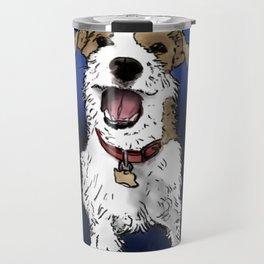 Smiling Dog Travel Mug