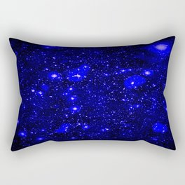 Dark Matter Galaxy Blue Rectangular Pillow