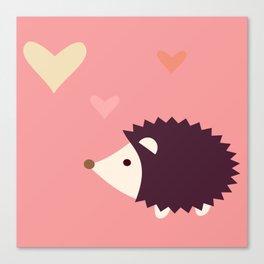 Hedgehog pink Canvas Print