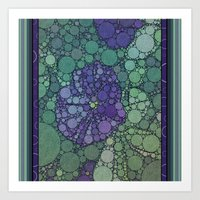 potato Art Prints featuring Percolated Purple Potato Flower by Charma Rose