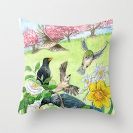Spring in New Zealand Throw Pillow