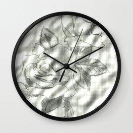 Roses Enhanced Wall Clock