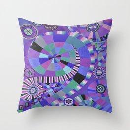 """Moo's mom's art print """"Purple Zen"""" Throw Pillow"""