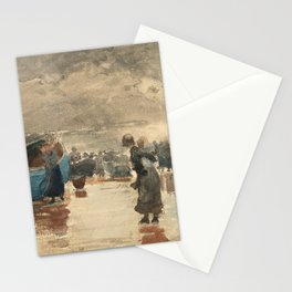 Winslow Homer's on the Sands (1881) Stationery Cards