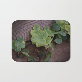 Lucky or Determined? Saint Patricks Day Shamrocks Bath Mat