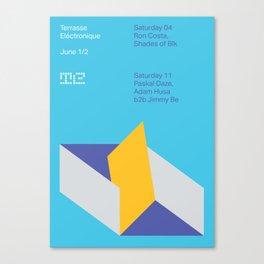 Terrasse Electronique - June 1/2 Canvas Print