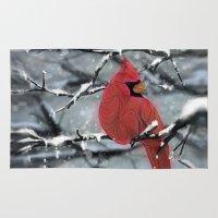 cardinal Area & Throw Rugs featuring Cardinal by Ben Geiger
