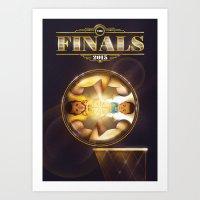nba Art Prints featuring NBA Finals 2015 by Davide Barco