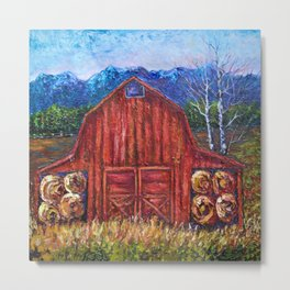 Red Barn by Lena Owens Metal Print