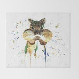 Chipmunk - Feeling Stuffed Throw Blanket