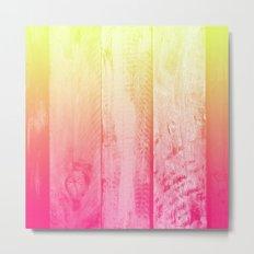 Flaming Wood Metal Print