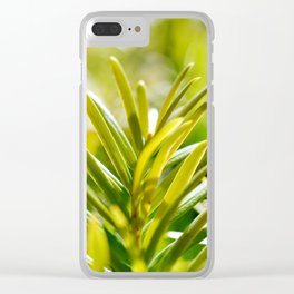 Yew Tree - New Growth Clear iPhone Case