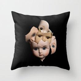 Little Broken Dolly Face - Halloween II Throw Pillow