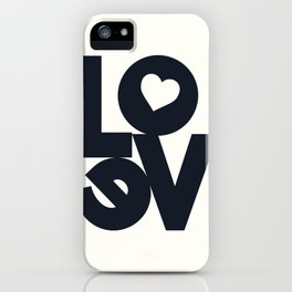 Love, tyopgraphy illustration, gift for her, people in love, be my Valentine, Romantic lettering iPhone Case