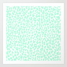 Pale Mint Leopard Art Print