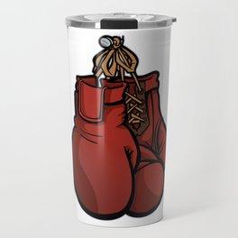 Boxing Gloves Illustration Travel Mug