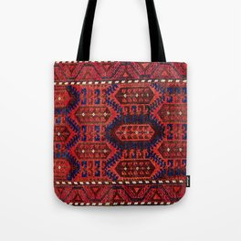 Baluch  Antique  Khorasan Persian Rug Tote Bag