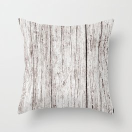 Pale Brown Wood Cottage Chic Rustic Wood Grain Texture Throw Pillow