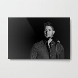 Jensen Ackles B&W Metal Print