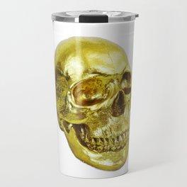 Goldish Skull Travel Mug