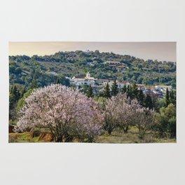 Algarve village in Spring Rug
