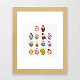 Street fighter characters Framed Art Print