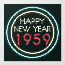 Happy New Year 1959! Canvas Print