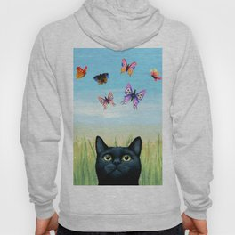 Cat 606 Butterfly Nature Hoody