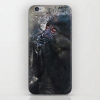 gorilla iPhone & iPod Skins featuring Gorilla by jbjart