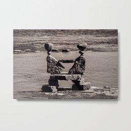 Balanced Rock Sculpture Metal Print