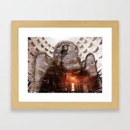 angel of my sorrow Framed Art Print