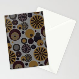 Circle Frenzy - Grey Stationery Cards