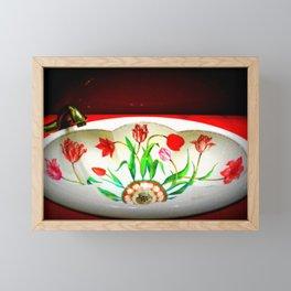 Floral Basin Framed Mini Art Print