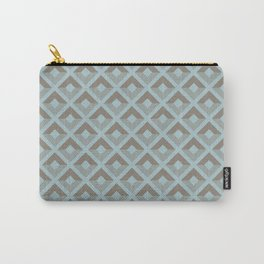 Two-toned square pattern Carry-All Pouch