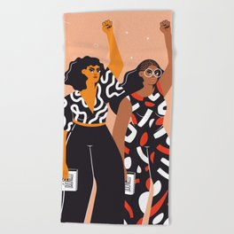 Feminism is for everybody Beach Towel