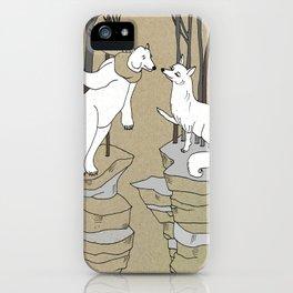 Arctic fox and Polar bear, Romeo and Juliet iPhone Case