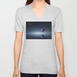 Hot Air Balloon Over Water Unisex V-Neck