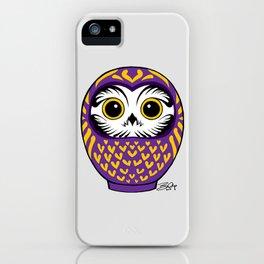 Purple Fukuro Daruma iPhone Case