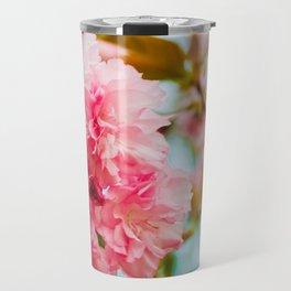 Pink Blooms (1) Travel Mug
