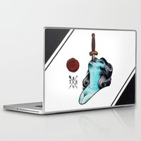 sword Laptop & iPad Skins featuring Sword Swallower by S.B.H tattoo