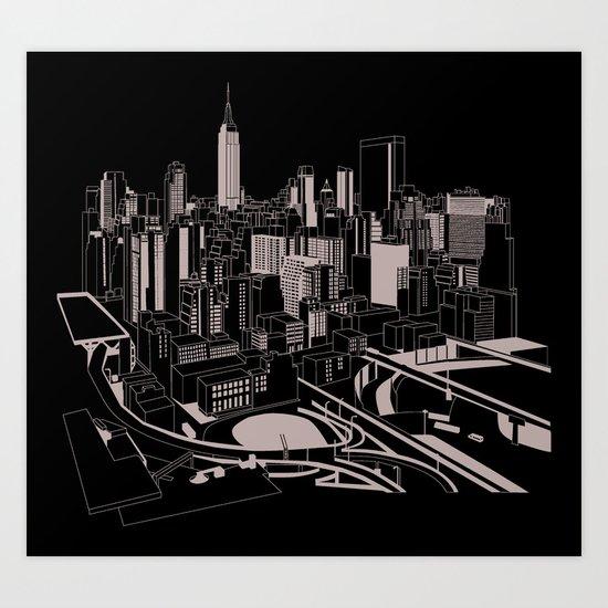 New York Black and White Art Print