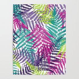 Fern frond seamless pattern Poster