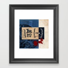 one and three quarters of things Framed Art Print