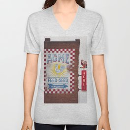 Acme Feed and Seed Nashville Tennessee Unisex V-Neck
