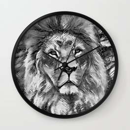 AnimalArtBW_Lion_20171004_by_JAMColorsSpecial Wall Clock